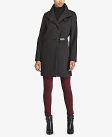 Lauren Ralph Lauren Petite Buckle-Front Walker Coat, Created for Macy's