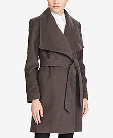 Lauren Ralph Lauren Cashmere Blend Draped Open-Front Coat