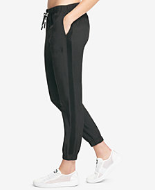 DKNY Sport Logo Mesh-Inset Jogger Pants, Created for Macy's