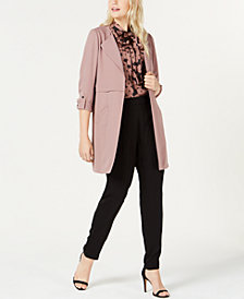 Bar III Topper Jacket, Floral-Print Top & Soft Pants, Created for Macy's