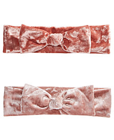 First Impressions Baby Girls 2-Pk. Velvet Headbands, Created for Macy's