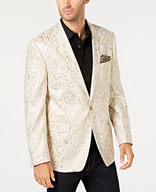 Tallia Orange Men's Modern-Fit Gold Metallic Dinner Jacket