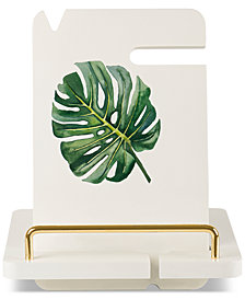 Cathy's Concepts Palm Leaf Lacquered Cutting Board & Stand