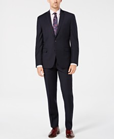 Bar III Men's Slim-Fit Stretch Blue Stripe Suit Separates, Created for Macy's