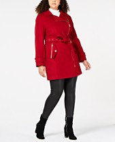 127c887aaa9c MICHAEL Michael Kors Plus Size Asymmetrical Belted Coat