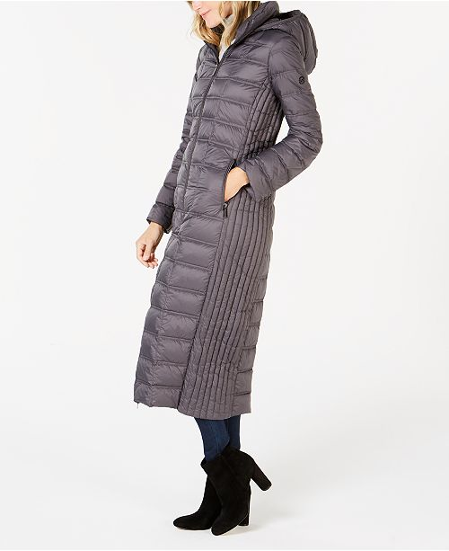 amazing quality popular brand special buy Michael Kors Hooded Maxi Puffer Coat & Reviews - Coats ...