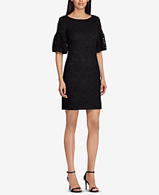 Lauren Ralph Lauren Puffed-Sleeve Dress