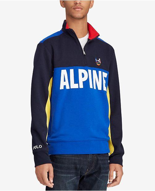 46761d4159b ... Polo Ralph Lauren Downhill Skier Men s Double-Knit Half-Zip Pullover ...