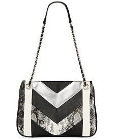 I.N.C. Averry Patchwork Shoulder Bag, Created for Macy's