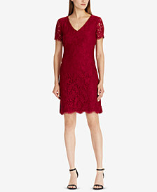 Lauren Ralph Lauren Petite Scalloped Lace Dress