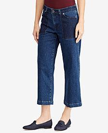 Lauren Ralph Lauren Crop Wide-Leg Jeans
