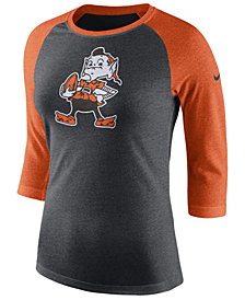 Nike Women's Cleveland Browns Historic Logo Raglan T-Shirt