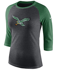 Nike Women's Philadelphia Eagles Historic Logo Raglan T-Shirt