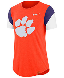 Nike Women's Clemson Tigers Tri-Blend Fan T-Shirt