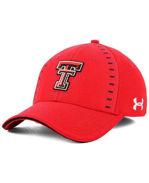 Under Armour Texas Tech Red Raiders Blitzing Flex Stretch Fitted Cap ... 4894d730044