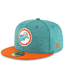 New Era Boys' Miami Dolphins On Field Sideline Home 59FIFTY Fitted Cap
