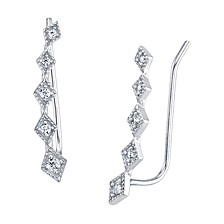Cubic Zirconia Novelty Ear Crawler