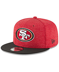 New Era Boys' San Francisco 49ers Official Sideline Home 9FIFTY Stretch Fitted Cap 2018