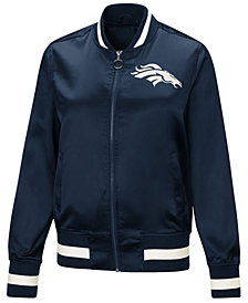 Touch by Alyssa Milano Women's Denver Broncos Touch Satin Bomber Jacket