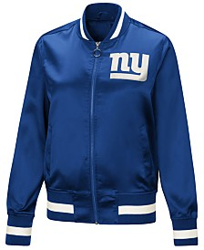 Touch by Alyssa Milano Women's New York Giants Touch Satin Bomber Jacket