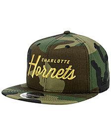 New Era Charlotte Hornets Classic Script 9FIFTY Snapback Cap