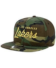 New Era Los Angeles Lakers Classic Script 9FIFTY Snapback Cap