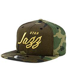 New Era Utah Jazz Classic Script 9FIFTY Snapback Cap