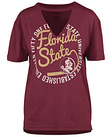 Royce Apparel Inc Women's Florida State Seminoles Cutout V-Neck T-Shirt