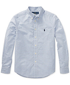 Polo Ralph Lauren Big Boys Plaid Stretch Cotton Shirt