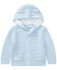 Ralph Lauren Baby Boys Bear-Hood Cotton Cardigan