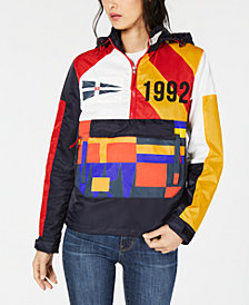 Reason Burgees Colorblocked Zip-Neck Jacket