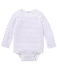 Ralph Lauren Baby Girls Striped Jacquard Bodysuit