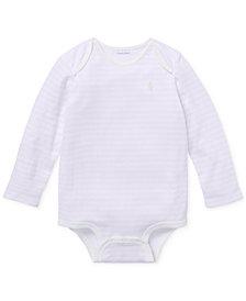 Ralph Lauren Baby Girls Striped Jacquard Bodysuit