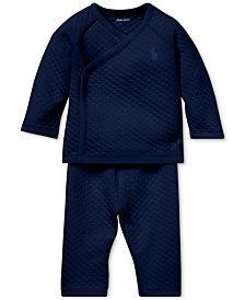 Ralph Lauren Baby Boys Kimono Top & Pants Set