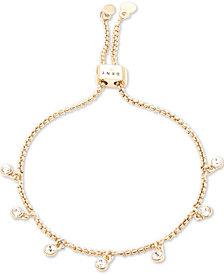 DKNY Crystal Bezel Dangle Slider Bracelet