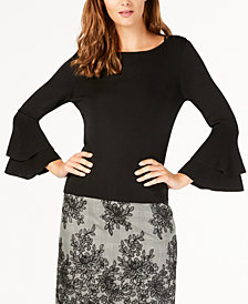 Anne Klein Flare-Sleeve Sweater