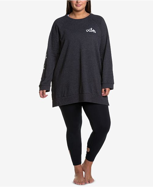 fa0a0d61654 Soffe Curves Plus Size Oversized Sweatshirt   Reviews - Tops - Plus ...