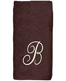Avanti Initial Script Embroidered Fingertip Towel
