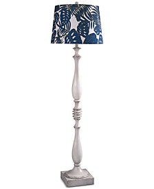StyleCraft Old White Distress Floor Lamp
