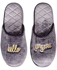 I.N.C. Hello Gorgeous Velour Scuff Slippers, Created for Macy's