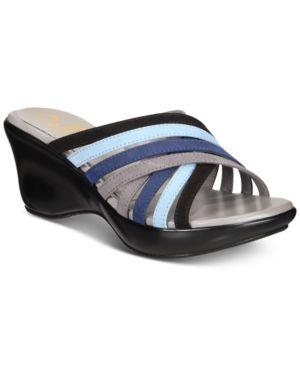 CALLISTO | Callisto Willowe Slide Platform Wedge Sandals, Created for Macy's Women's Shoes | Goxip