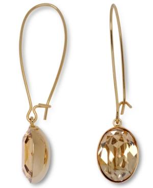 Swarovski Earrings, Crystal Golden Shadow Earrings
