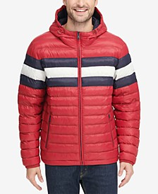 Men's Color Block Hooded Ski Puffer Coat, Created for Macy's
