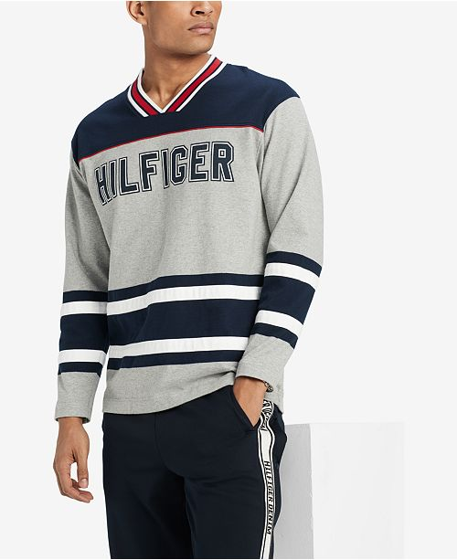 7b91586d7 ... Tommy Hilfiger Men's V-Neck Hockey Jersey, Created for Macy's ...
