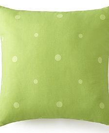 "Tropic Bay Square Cushion - Green Polka Dot 20""x20"""