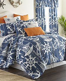 Nautical Board Duvet Cover Set Super Queen