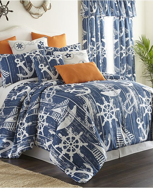 Colcha Linens Nautical Board Duvet Cover Set-Twin