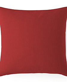 "Cambric Red Euro Sham Cushion 20""x20"""