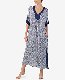 Ellen Tracy Plus Size Printed Caftan