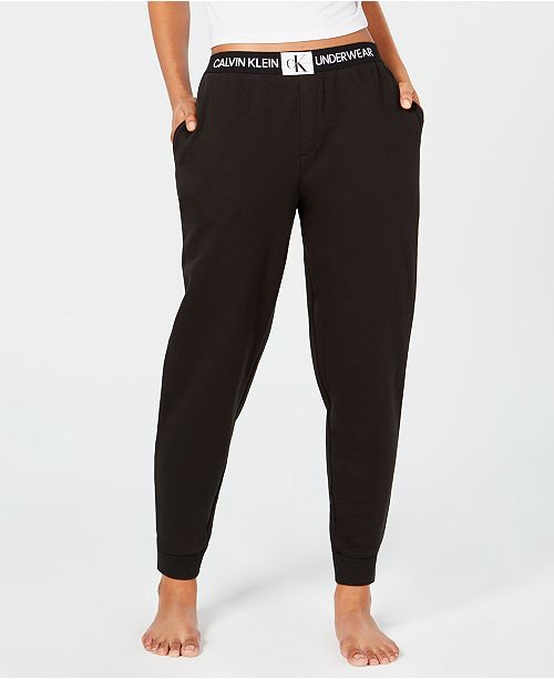 1d8f91ad78f6b Calvin Klein Monogram Lounge Jogger Pants QS6031 & Reviews - Bras ...